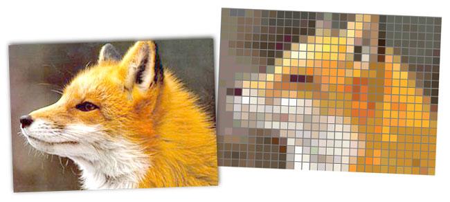 Pixel Art Facile Animaux Renard