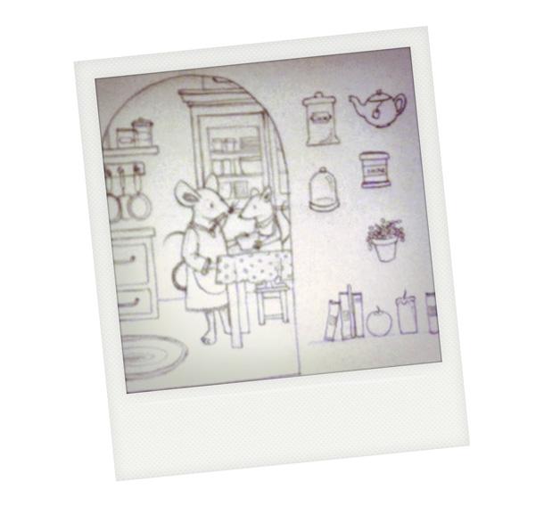dessin croquis souris illustration mouse la t te dans. Black Bedroom Furniture Sets. Home Design Ideas