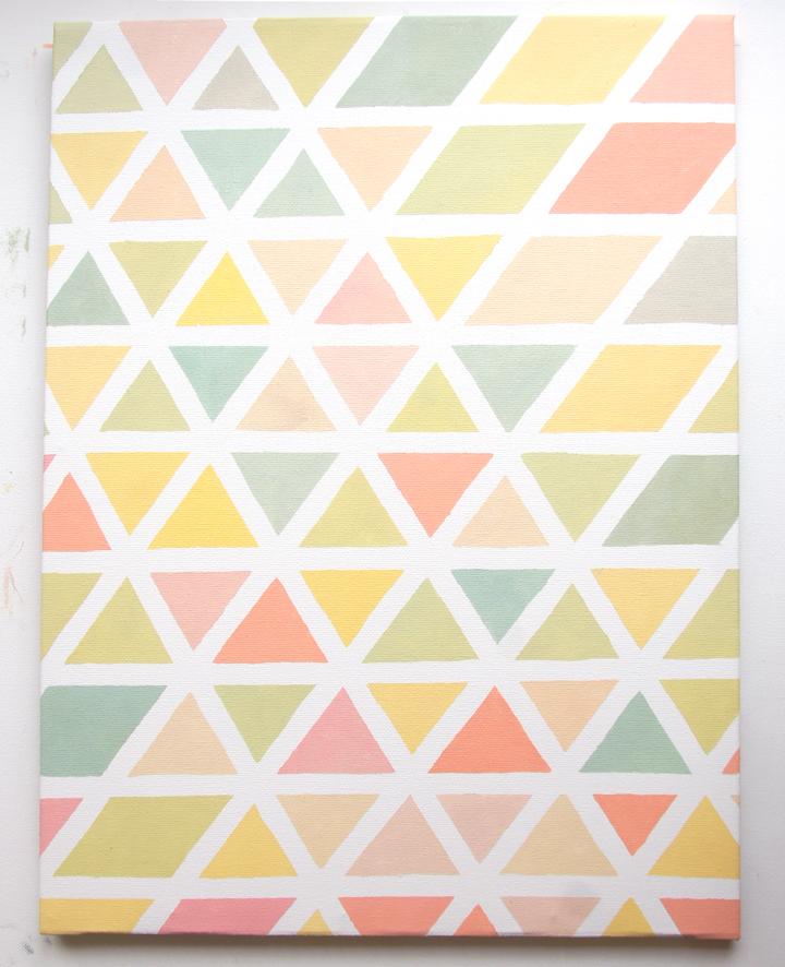 Pastel & Triangles  La tête dans les idé