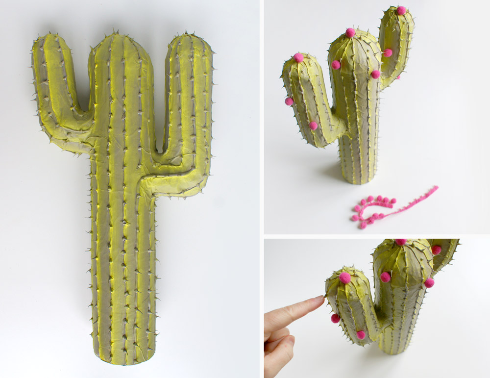 diy cactus en carton et papier m ch. Black Bedroom Furniture Sets. Home Design Ideas