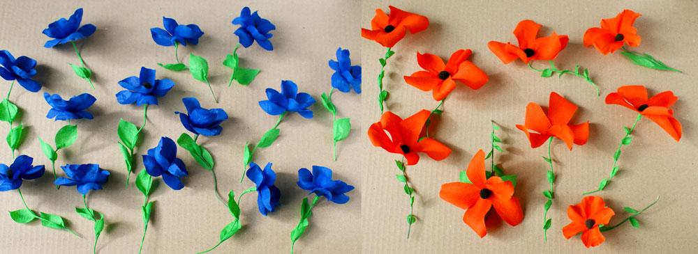 Guirlande Fleur Papier Crepon