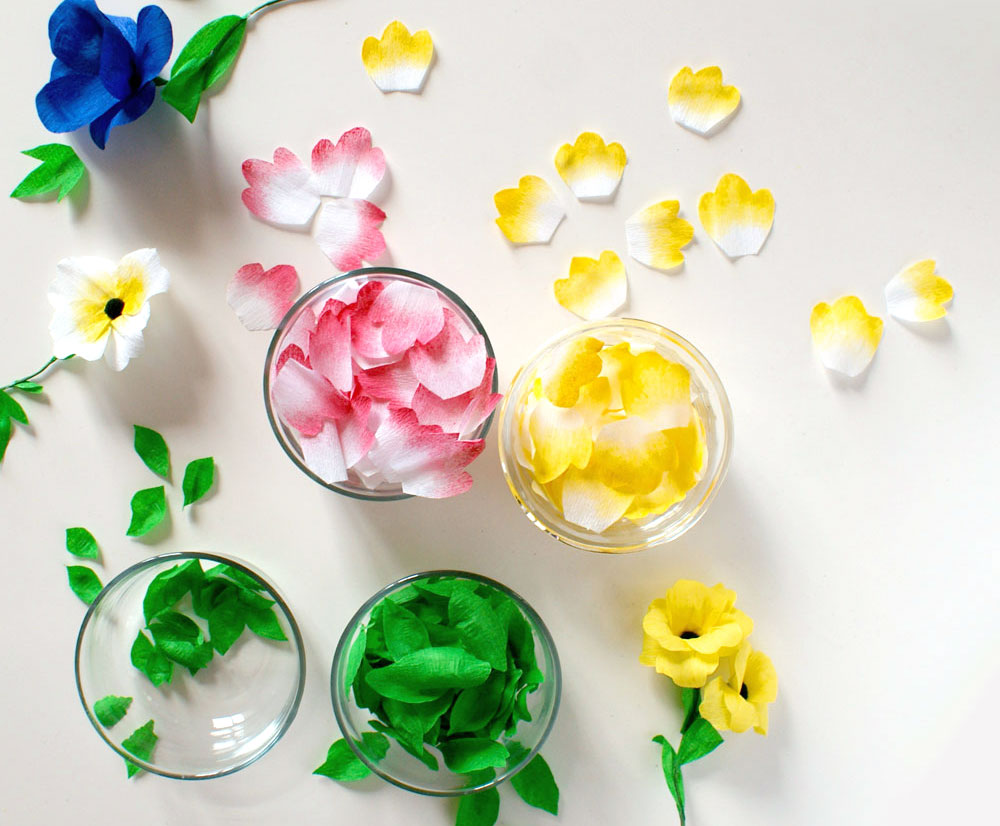 Pliage fleur en papier crepon fashion designs - Fleur en papier crepon pliage ...