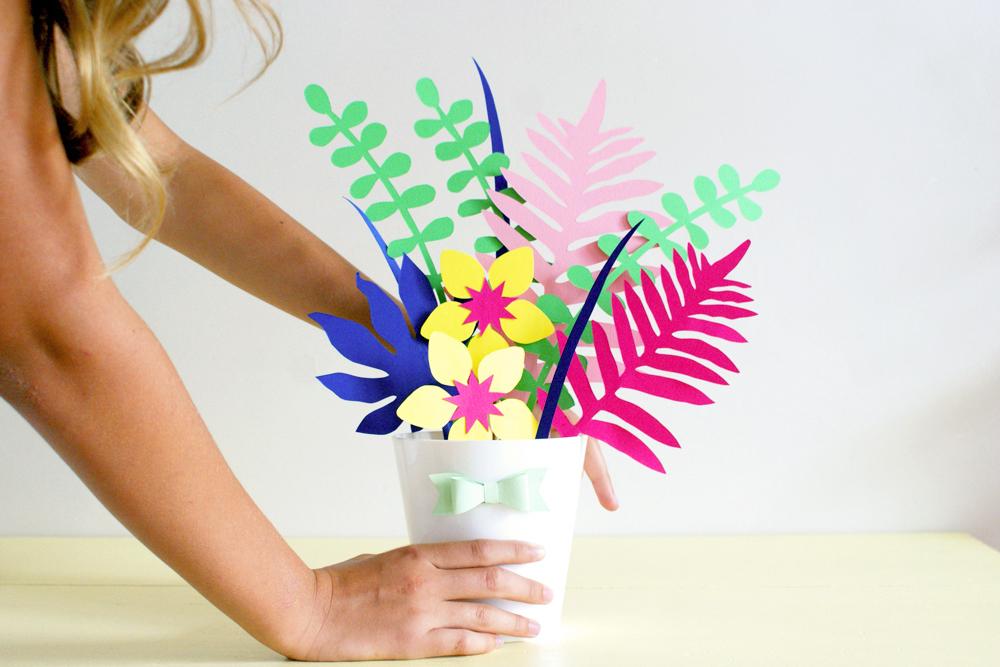 Bouquet Diy Deco Papier La Tête Dans Les Idées
