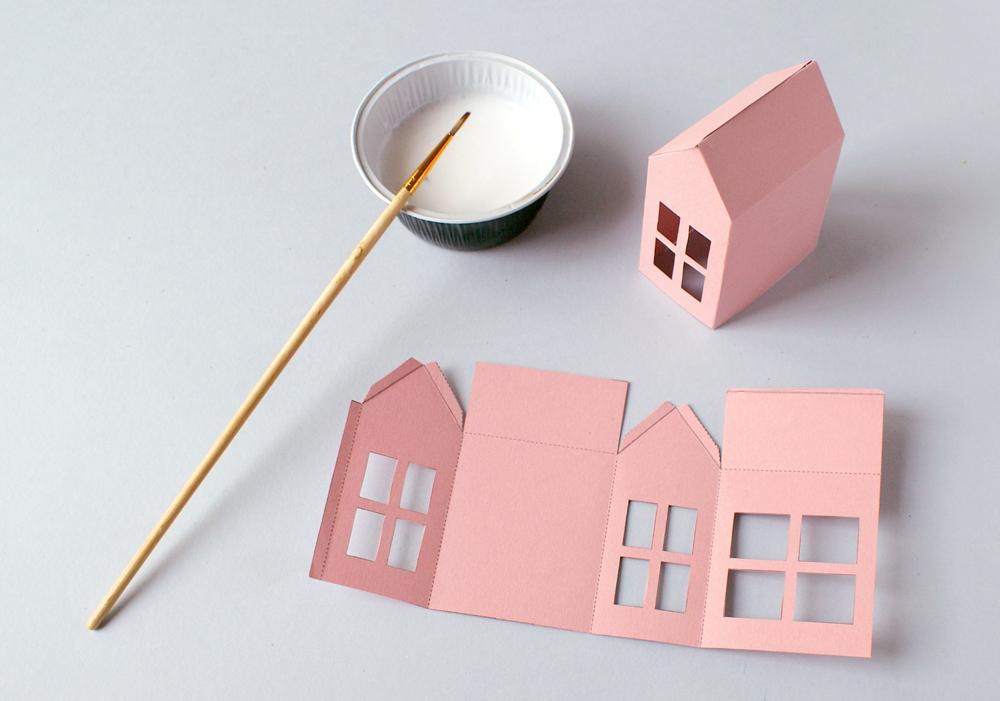 diy no l une d coration en papier acidul. Black Bedroom Furniture Sets. Home Design Ideas