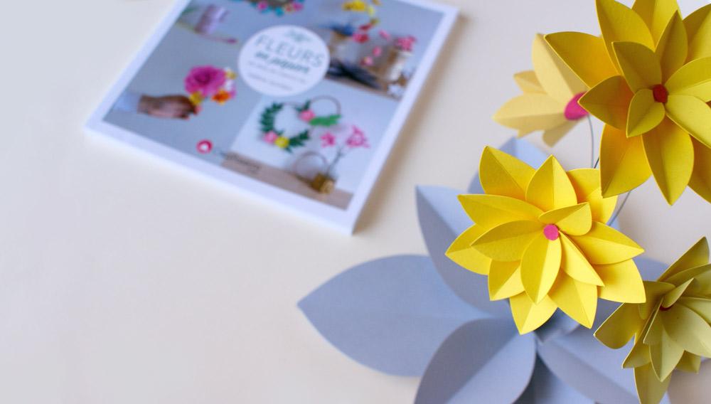 livre fleurs en papier. Black Bedroom Furniture Sets. Home Design Ideas