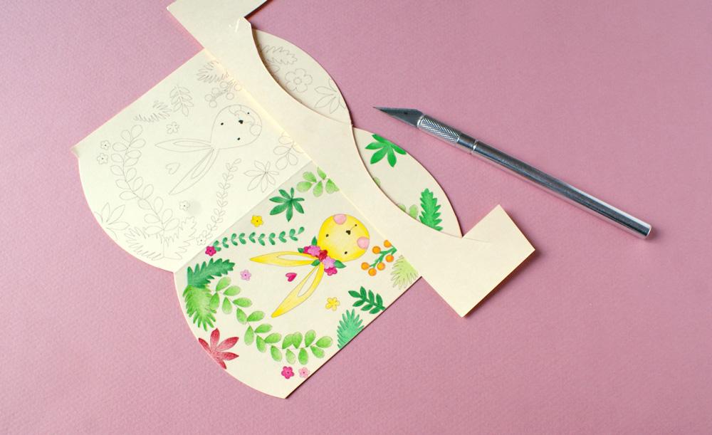 Servez-vous de la chute de papier pour reporter l'arrondi et marquez ...