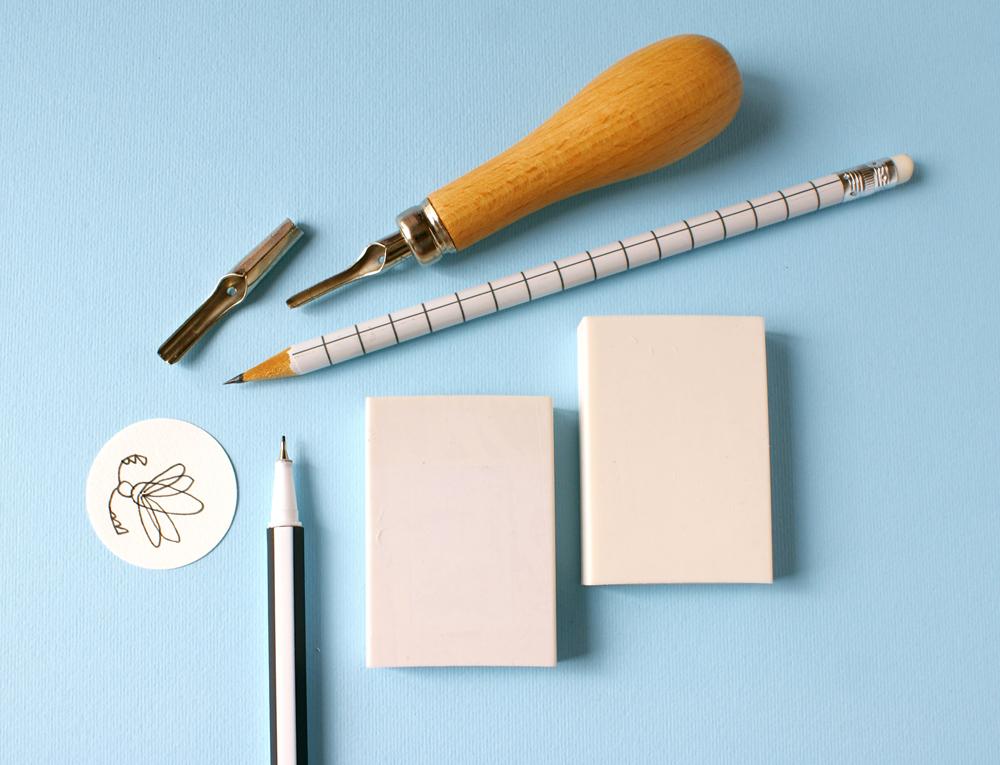 diy tampon encreur motifs insectes. Black Bedroom Furniture Sets. Home Design Ideas