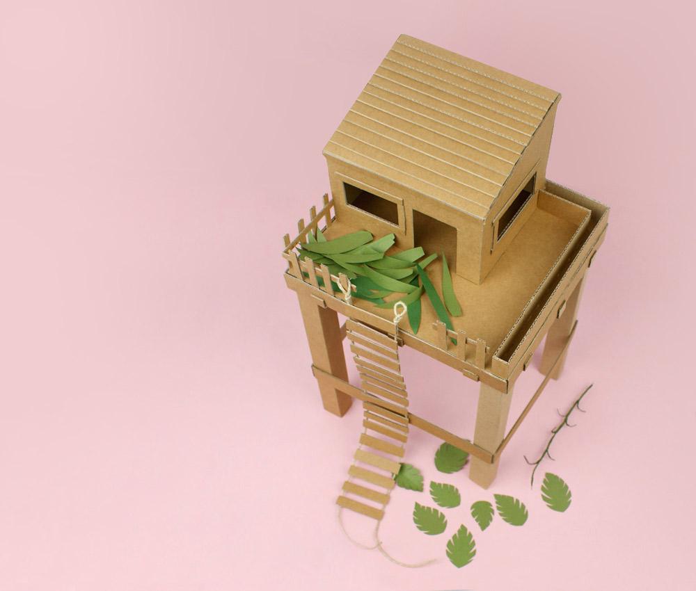 Cabane En Carton Diy cabane-en-carton - la tête dans les idées